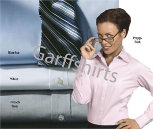 Womens-Ladies Eagle Non Iron 100% Cotton Pinpoint Oxford Dress Shirts