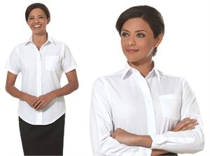 Van Heusen Long and Short Sleeve Womens Cotton Rich Broadcloth Blouses