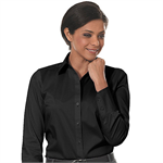 Black - 13CK018 Calvin Klein Womens Cotton Stretch Dress Shirts