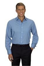 Blue Van Heusen Mens Long Sleeve Feather Stripe With Contrast Dress Shirts