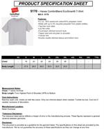 Hanes 5170 Comfortblend Tee Shirts 50/50 cotton/poly T-Shirts