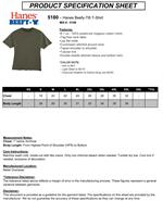 5180 Hanes 6.1 oz Cotton BEEFY-T Tee Shirts