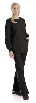 Landau 7525 Landau 7525 Crew Neck Warm-Up Jacket Solids