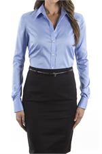 Blue Berry Calvin Klein Ladies Non Iron Pincord Dress Shirts - 13CK034