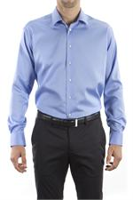 Blue Berry Calvin Klein Mens Non Iron Micro Pincord Dress Shirts - 13CK033